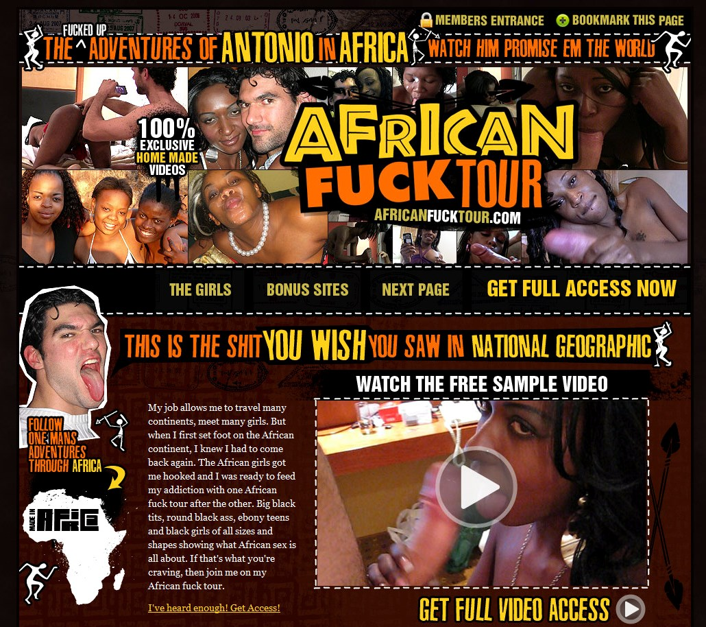 AfricanFuckTour.com SITERIP - all 76 videos