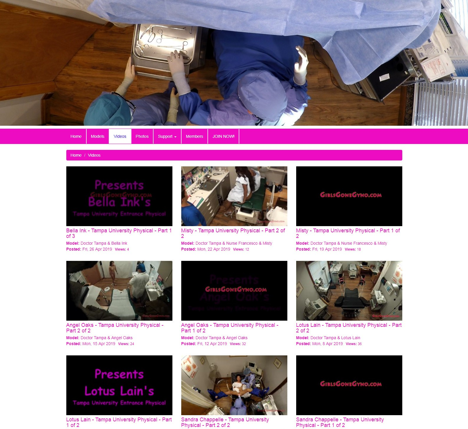 GirlsGoneGyno.com - SITERIP (32) [Medical Fetish, Gyno Exam, Speculum]