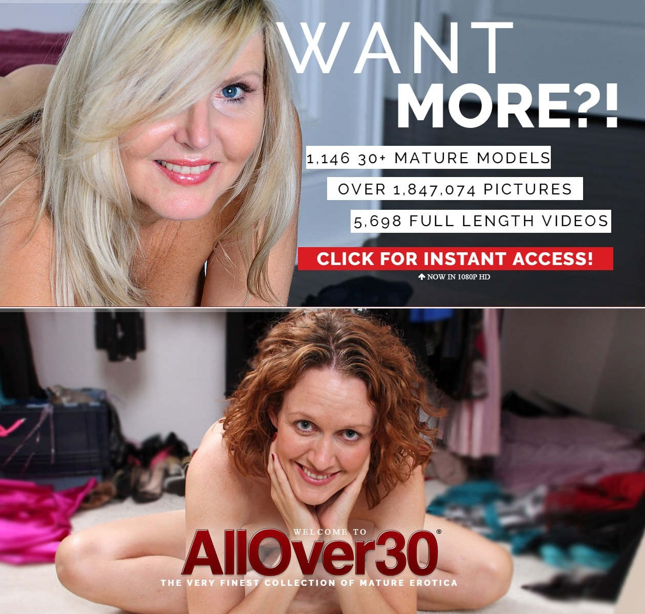 [AllOver30.com] SITERIP (200) [Older Women, MILF, Mature, Old Young]