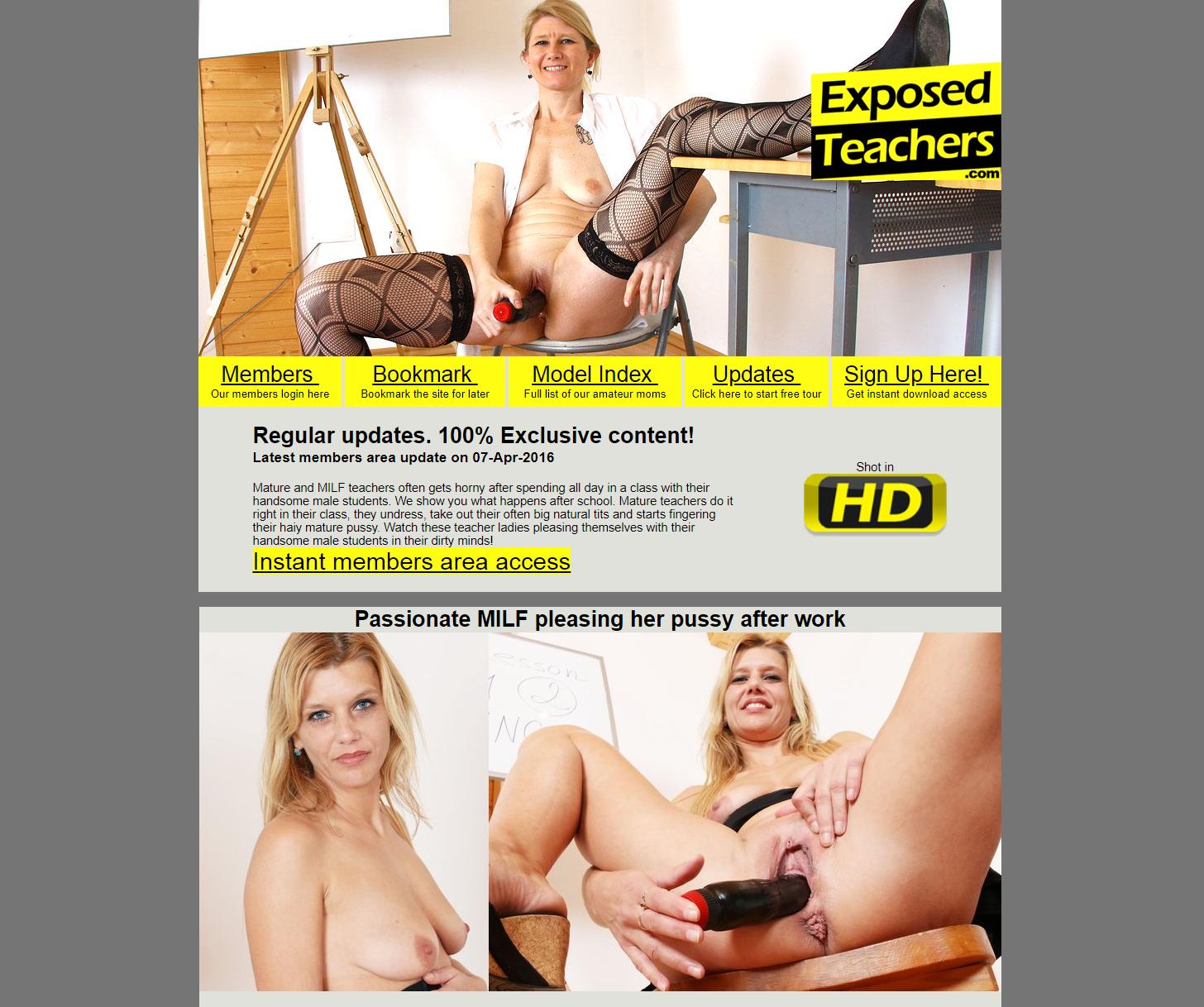 [ExposedTeachers.com] SITERIP (14) [Mature, MILF, Solo, Masturbation]
