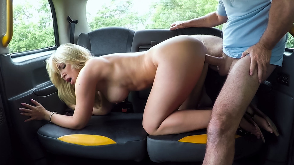 Sexy blonde bent over and fucked - Karlie Simon [FakeTaxi]